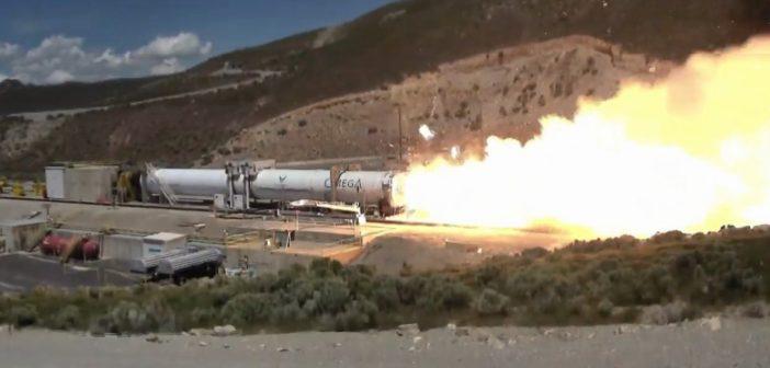 Moment rozerwania dyszy silnika pierwszego stopnia rakiety OmegA / Credits - Northrop Grumman