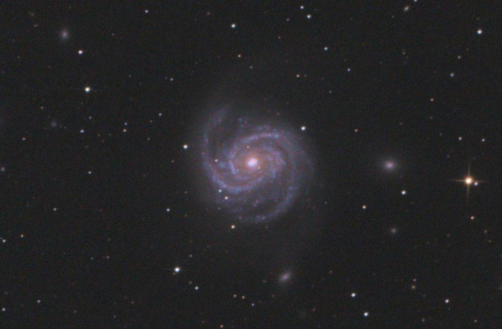 Zbliżenie na galaktykę M100 i supernową SN 2019ehk / Credits - Maciej Jarmoc