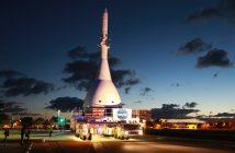 Rakieta LAS i makieta kapsuły Orion / Credits - NASA