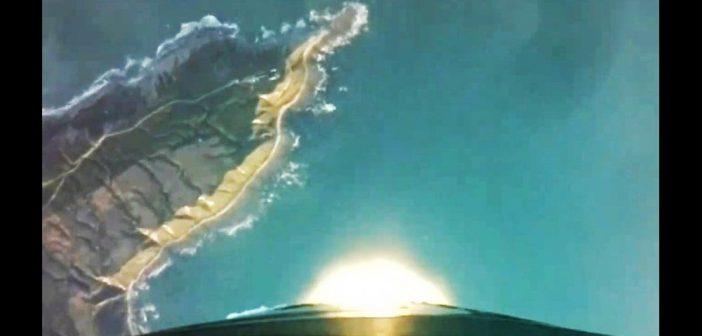 Widok na przylądek Mahia, skąd startują rakiety Electron - zdjęcie ze startu z 29 czerwca 2019 / Credits - Rocket Lab