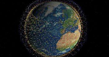 Symulacja pełnej konstelacji Starlink / Credits - Mark Handley