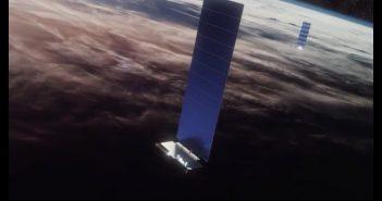 Wizja artystyczna satelitów Starlink na orbicie / Credis - SpaceX