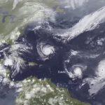 Początek września 2018 na północnym Atlantyku / Credits - NOAA
