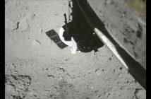 Tuż po podjęciu próbek z powierzchniu Ryugu - 11.07.2019 / Credits - JAXA, University of Tokyo, Kochi University, Rikkyo University, Nagoya University, Chiba Institute of Technology, Meiji University, Aizu University, AIST