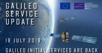 Galileo wraca do służby - 18.07.2019 / Credits - GSA