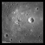 Spojrzenie na miejsce lądowania misji Apollo 11, wykonane w 2012 roku przez LRO (z wysokości 24 km) / Credits - NASA Goddard/Arizona State University