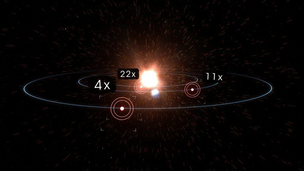 Porównanie ilości energii otrzymywanej przez poszczególne planety układu L98-59 z ilością promieniowania słonecznego otrzymywanego przez Ziemię / Credits - NASA Goddard