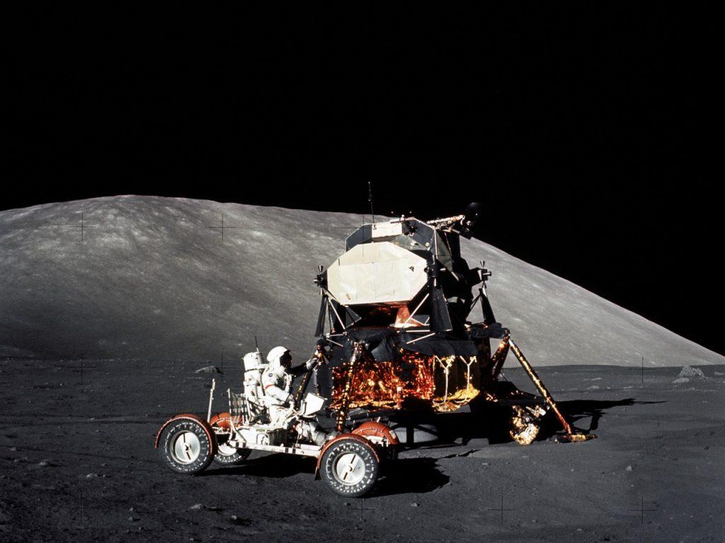 Lądownik księżycowy z misji Apollo 17 (1972) / Credits - NASA