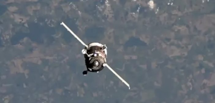 Progeress MS-12 zbliża się do ISS / Credits - NASA TV