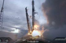 Start Falcona 9 z AMOS-17 / Credits - SpaceX