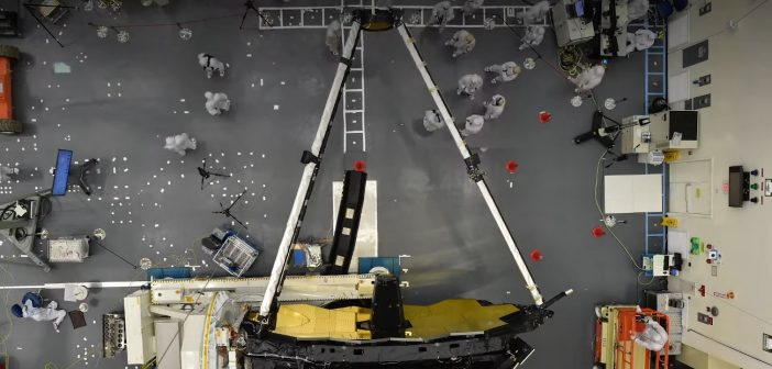 Testy lustra wtórnego JWST / Credits - NASA Goddard