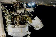 Prace przy PMA-3 i IDA-3 - spacer EVA-55 / Credits - NASA TV
