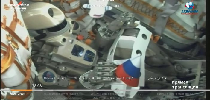 Skybot-850 podczas startu / Credits - NASA TV
