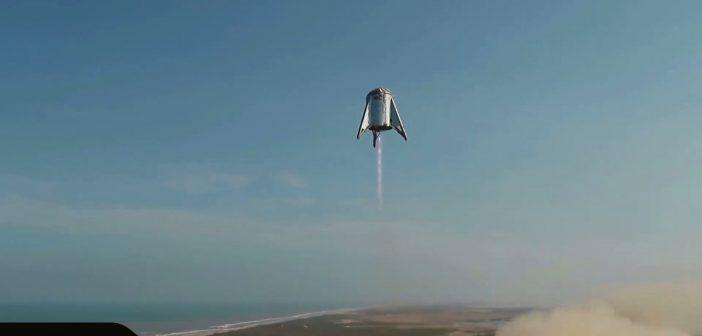 Pojazd StarHopper w trakcie lotu - 27/28 sierpnia 2019 / Credits - SpaceX