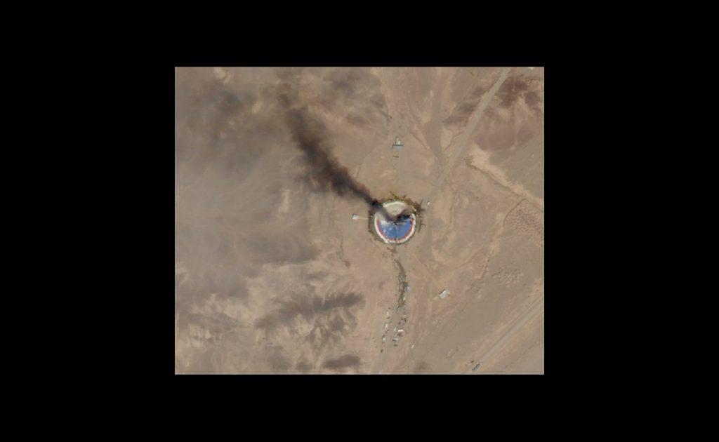 Uszkodzona wyrzutnia startowa rakiet Safir / Credits - Planet