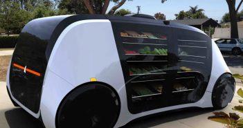Jeden z prototypowych pojazdów autonomicznych służący celom dostawczym / Credits - TEDx