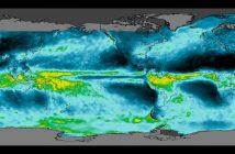 Opady na Ziemi - dane z satelitów TRMM i GPM / Credits - NASA, JAXA