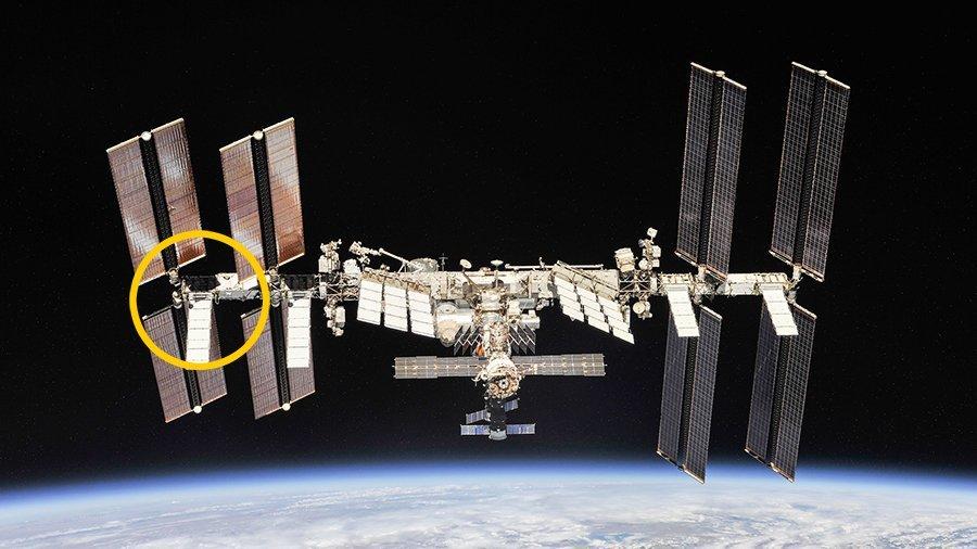 Miejsce pracy podczas EVA-56 / Credits - NASA
