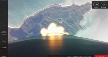 Ujęcie z lotu rakiety Electron - 17.10.2019 / Credits - RocketLab