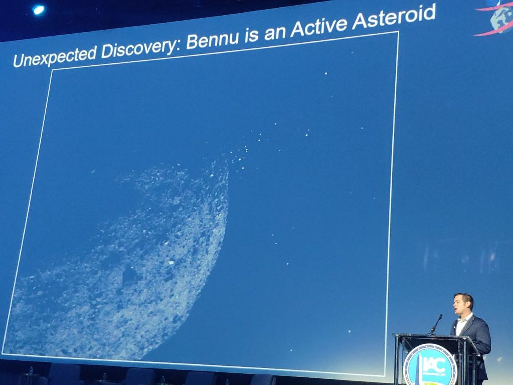 Prezentacja wyników z misji OSIRIS-REx na IAC 2019 / Credits - kosmonauta.net