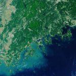 Wycinek południowej części Półwyspu Koreańskiego okiem Sentineli-3 / Credits - ESA