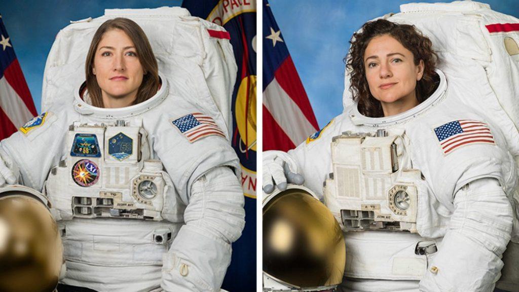 Christina Koch i Jessica Meir / Credits - NASA