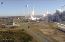 Start rakiety Antares 230+ z Cygnusem NG-12 - 2 listopada 2019 / Credits - NASA TV