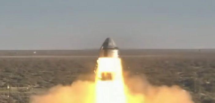 Odpalenie silników CST-100 / Credits - NASA TV