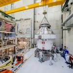 Złożony statek MPCV Orion / Credits - NASA