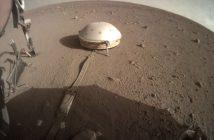 Zdjęcie z 16 listopada 2019 - po lewej widać wystający instrument Kret / Credits - NASA