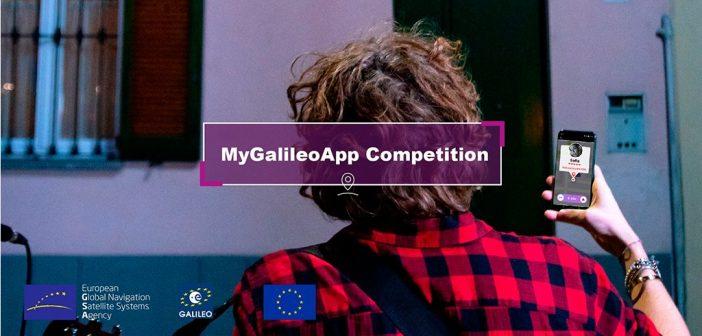 Grafika związana z konkursem MyGalileoApp / Credits - GSA