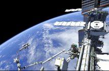Grafika prezentująca etap prac w EVA-59 - dotarcie do AMS-02 za pomocą SSRMS / Credits - NASA TV