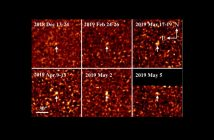 """Obrazy """"precovery"""" komety 2I/Borisov / Credits - Ye et al."""
