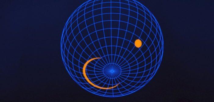 Możliwy wygląd południowego bieguna pulsara J0030+0451 / Credits - NASA's Goddard Space Flight Center
