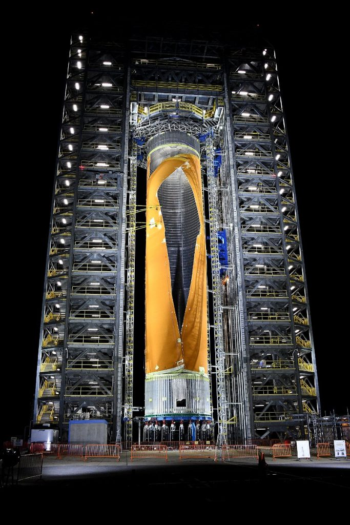 Model strukturalny zbiornika wodoru SLS, po teście z 5 grudnia 2019 / Credits - NASA