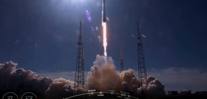 Początek misji CRS-19 / Credits - SpaceX