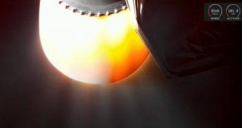 Widok na dyszę rakiety Electron - lot z 6 grudnia 2019 / Credits - RocketLab