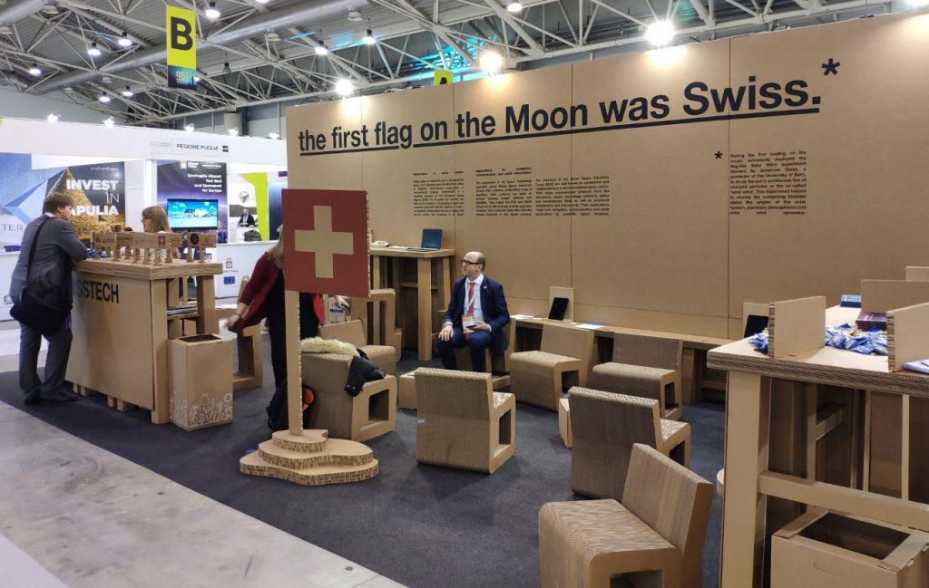 Szwajcarskie stanowisko na New Space Economy ExpoForum / Credits - Kosmonauta.net