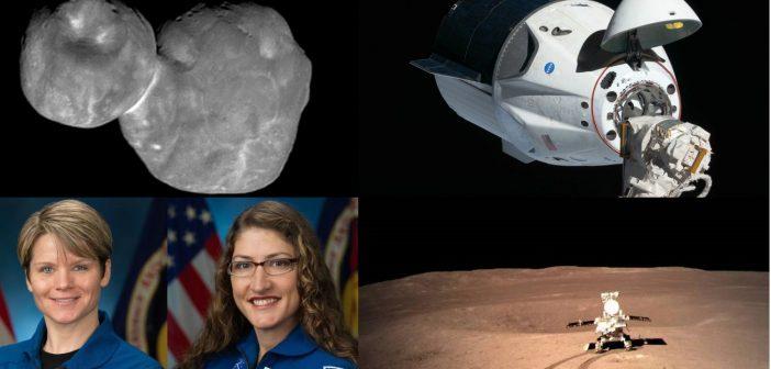 2019 rok / Credits - NASA, SpaceX, CNSA