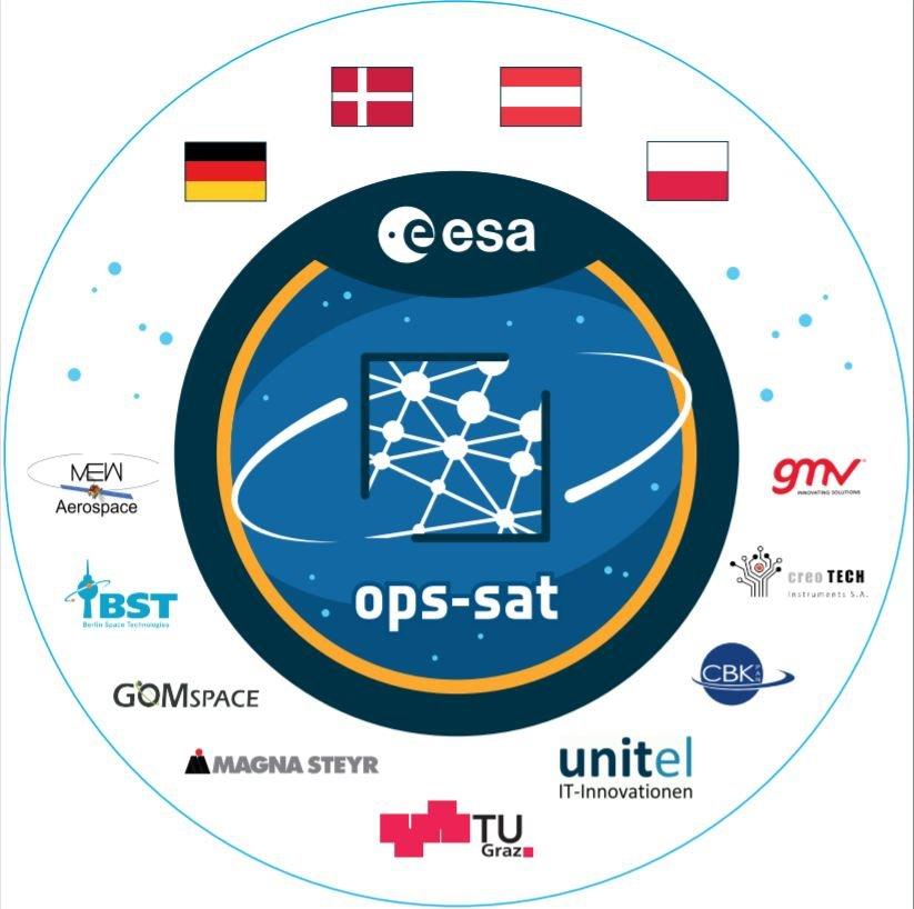 Logo misji OPS-Sat / Credits - ESA, konsorcjum OPS-Sat
