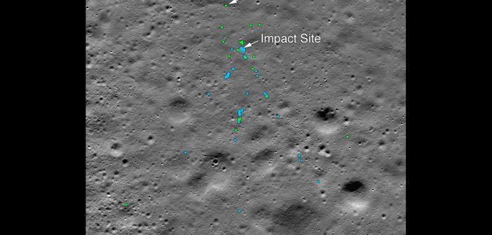Miejsce uderzenia lądownika Vikram w Księżyc / Credits - NASA/Goddard/Arizona State University