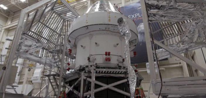 Ujęcie statku MPCV Orion do misji Artemis-1 przed testami / Credits - ESA