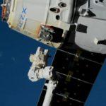 Dragon (CRS-19) opuszcza ISS / Credits - NASA TV