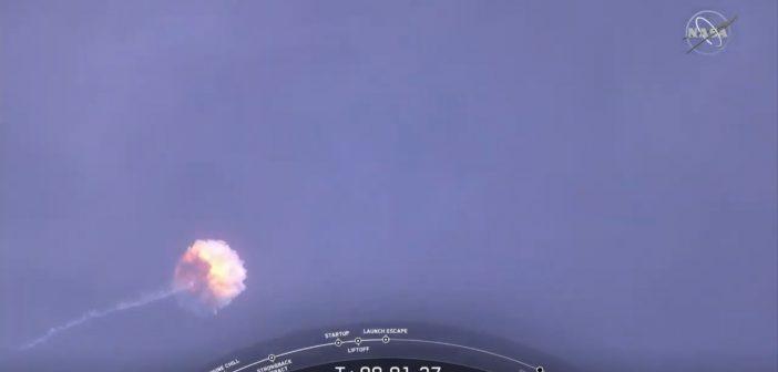 Eksplozja pierwszego stopnia Falcona 9 / Credits - SpaceX