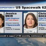 Uczestniczki spaceru EVA-62 / Credits - NASA