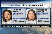 Uczestniczki spaceru EVA-63 / Credits - NASA