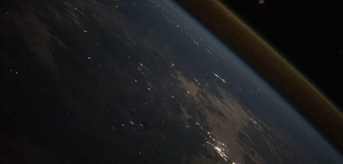 Start Sojuza-FG z Progressem MS-10. Na tym ujęciu pojazd jest już ponad ziemską atmosferą / Credits - ESA, NASA, Raw Space