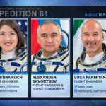 Powracająca załoga Sojuza MS-13 / Credits - NASA