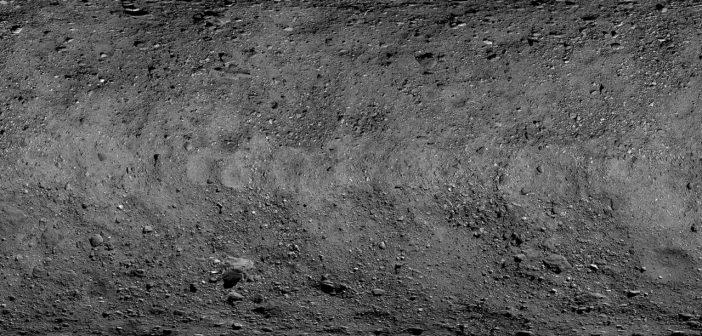 Moizaika planetoidy Bennu / Credits - NASA/Goddard/University of Arizona