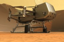 Dragonfly na powierzchni Tytana / Credits - Johns Hopkins APL